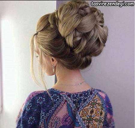 مدل شنیون برای عروس 2017