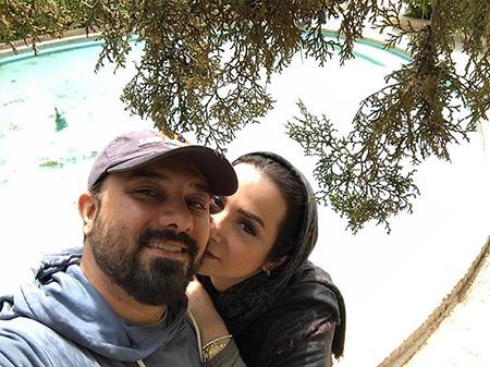 عکس برزو ارجمند و همسرش پارمیس زند , تصاویر بازیگران و همسرانشان