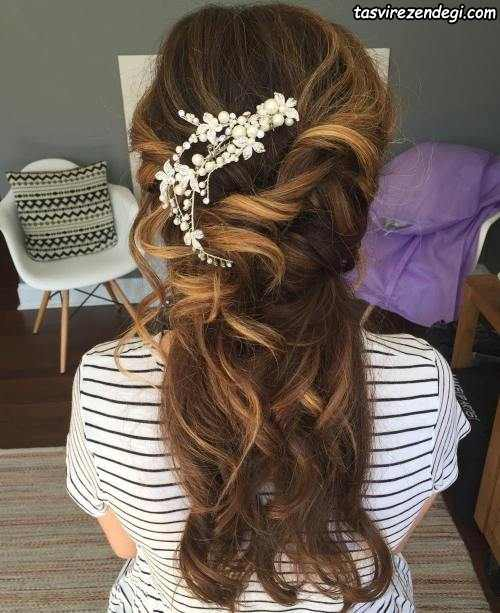 مدل جدید شینیون موی عروس