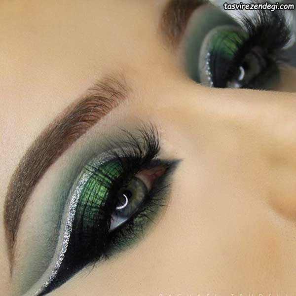 آرایش چشم عروس سایه سبز