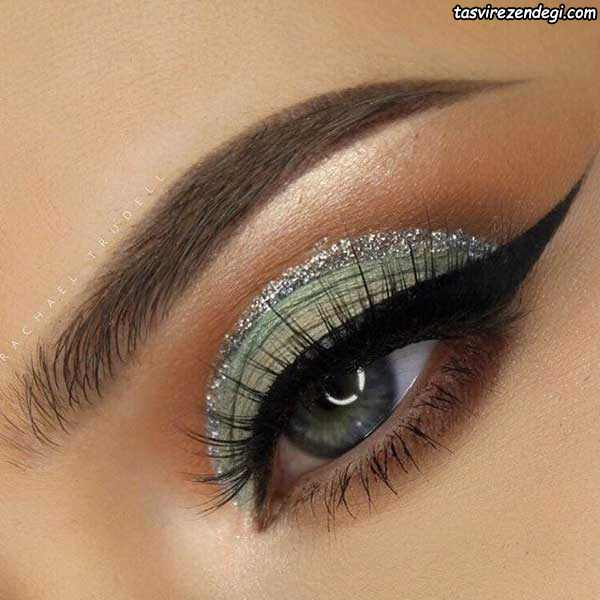 آرایش چشم عروس اروپایی