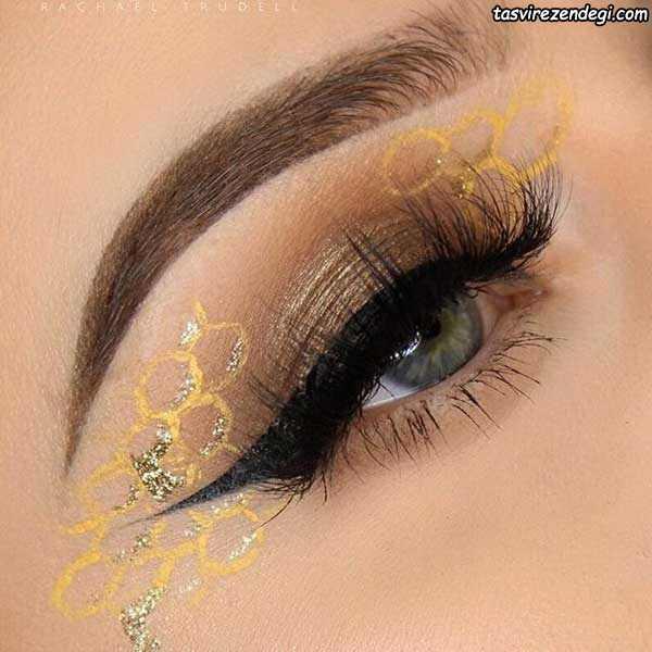 آرایش چشم عروس فانتزی