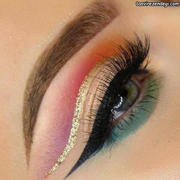 آرایش چشم عروس خلیجی