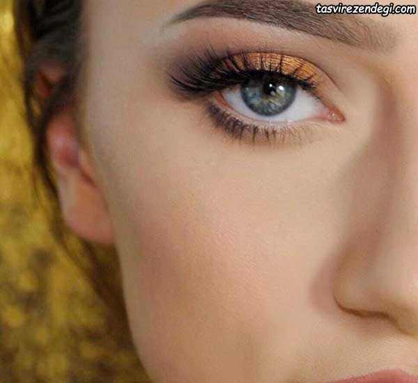 آرایش چشم ملایم عروس