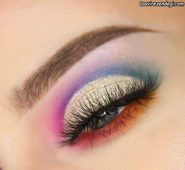 مدل آرایش چشم و سایه مجلسی