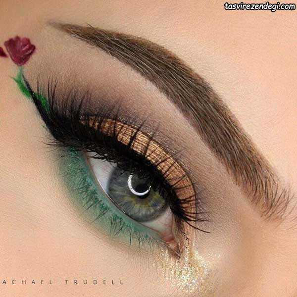 آرایش چشم فانتزی دخترانه