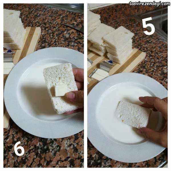طرز تهیه لگمات پنیری