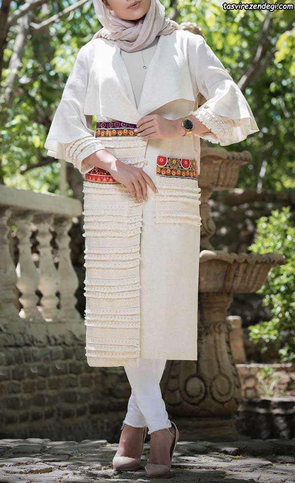 مدل مانتو مجلسی کیمونو جلو باز