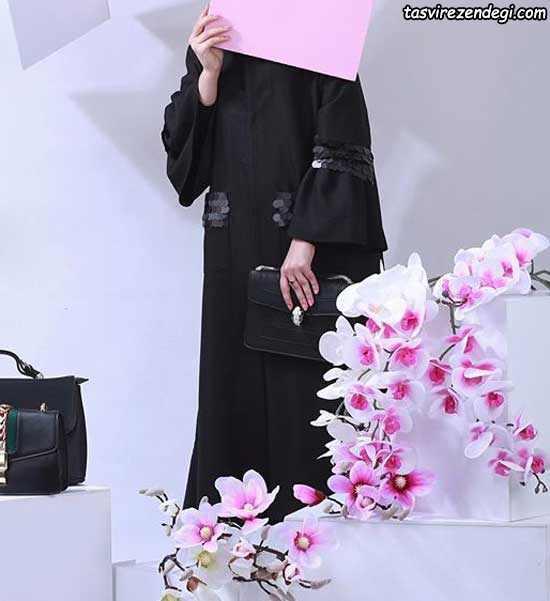 مدل مانتو مشکی بلند تابستانی جدید