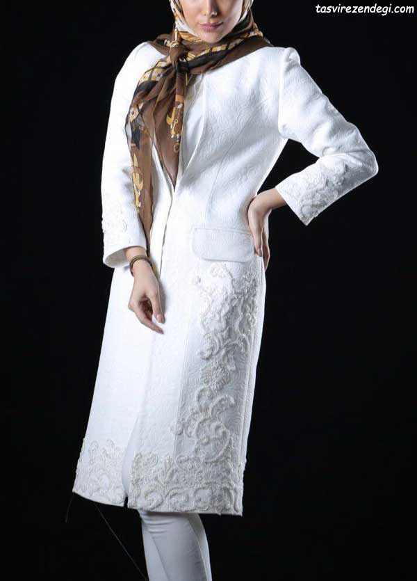 مدل مانتو سفید مجلسی , مانتو عروس