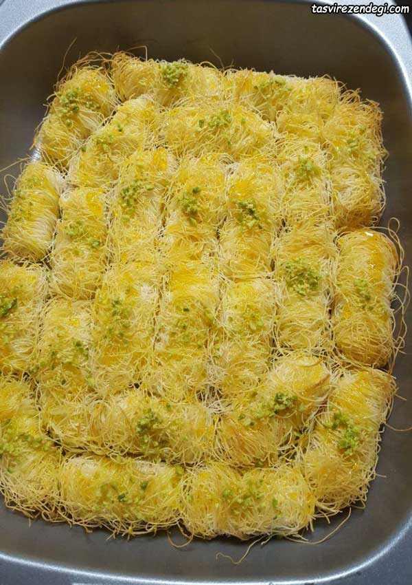 طرز تهیه شیرینی کونفه کاداییف رولی