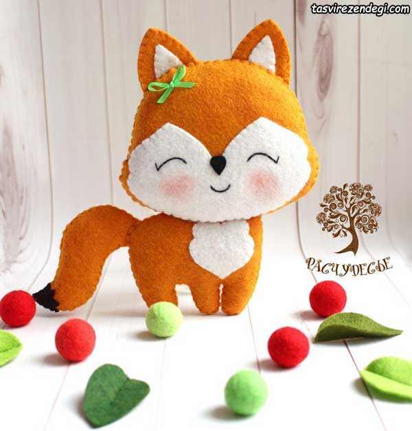 آموزش دوخت عروسک نمدی روباه