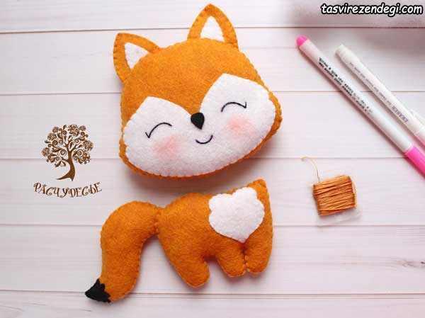 آموزش دوخت عروسک روباه نمدی