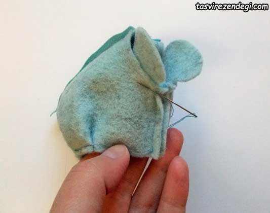آموزش دوخت کیف پول فیل