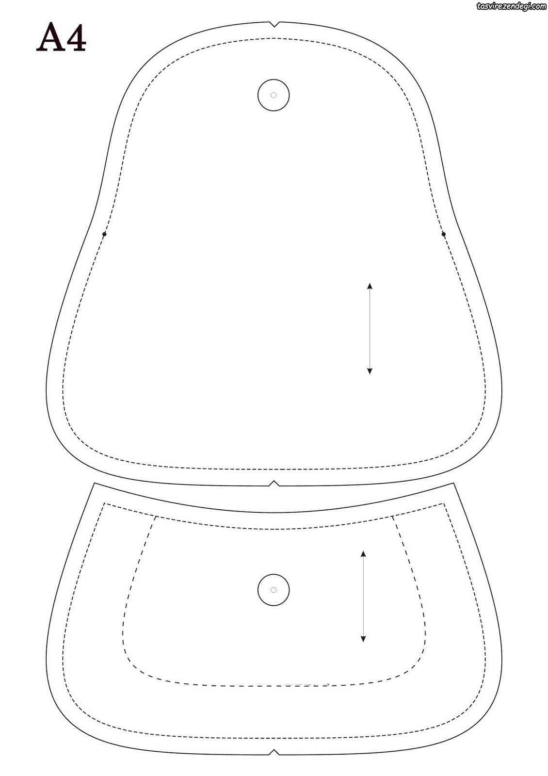 الگوی دوخت کیف آرایش