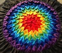 آموزش دوخت کوسن چهل تکه رنگین کمانی