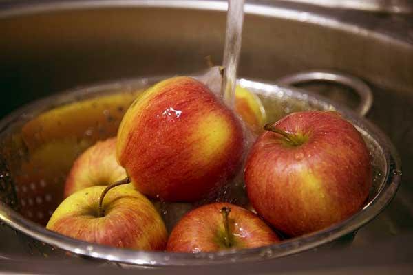 نحوه شستن میوه ها, روش شتشوی میوه ها