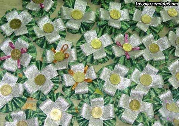 تزیین سکه عیدی با روبان