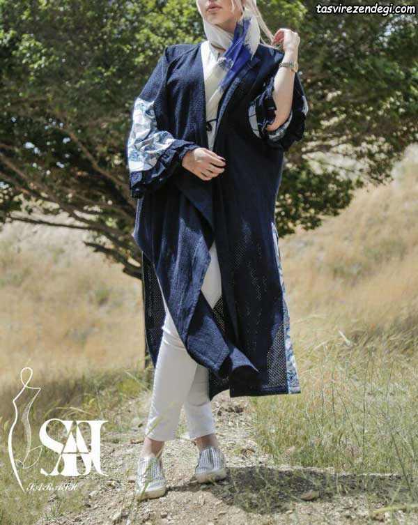 مدل مانتو نخی تابستانه کیمونو جلو باز