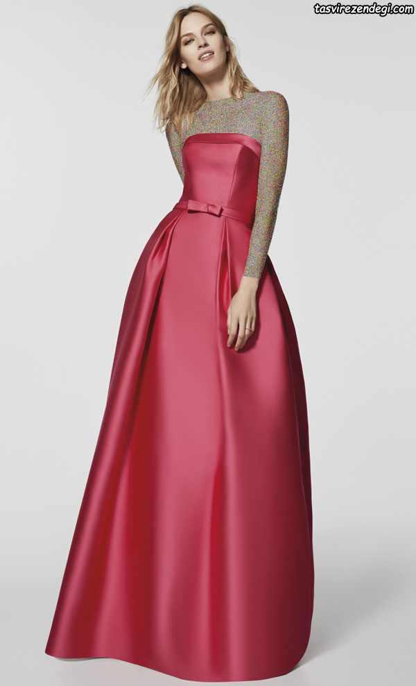 مدل لباس شب دکلته شیک جدید