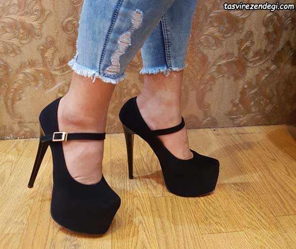 کفش زنانه مجلسی پاشنه 15 سانتی