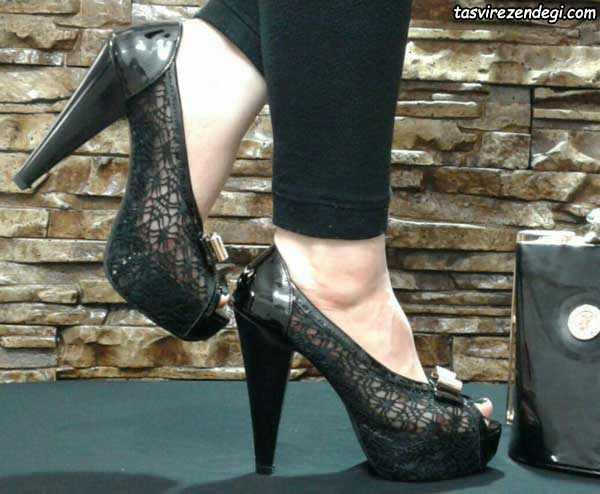 کفش زنانه مجلسی مشکی پاشنه بلند