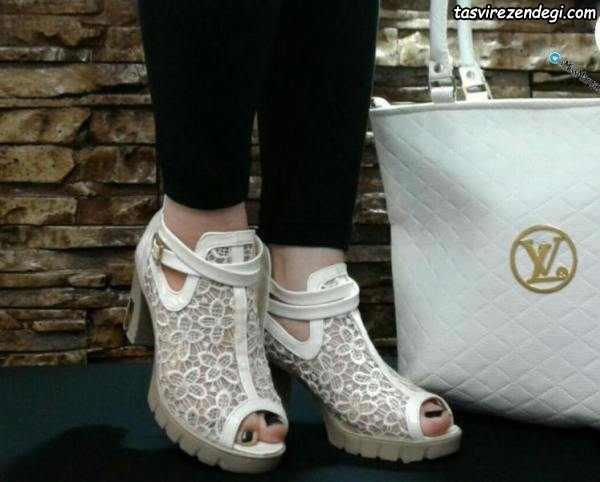 مدل کفش مجلسی دخترانه سفید