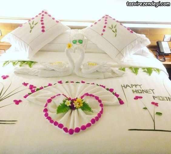 تزیین عاشقانه تخت عروس داماد