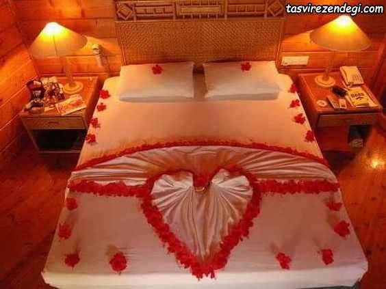 تزیین تخت عروس داماد , تزیین حوله عروس
