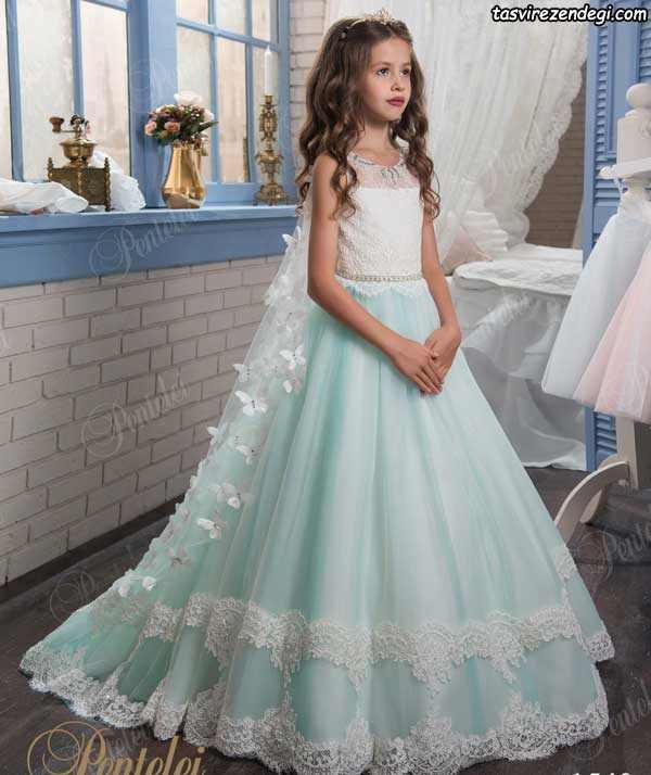 لباس عروس بچگانه رنگی