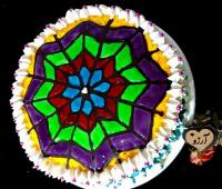 کیک پنجره رنگی