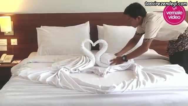 آموزش تزیین تخت عروس ,تزیین حوله عروس