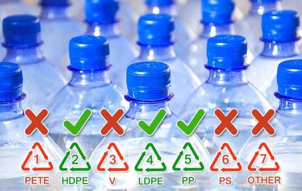 بطری های پلاستیکی یکبار مصرف