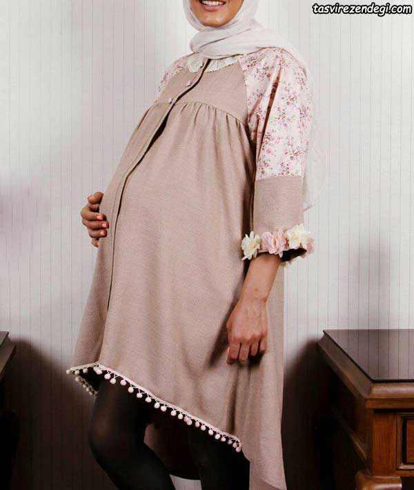 مدل مانتو حاملگی تابستانه, مانتو بارداری دنباله دار