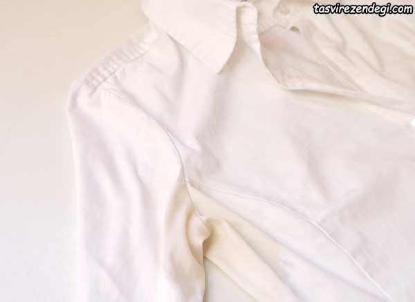 پاک کردن لکه عرق لباس سفید