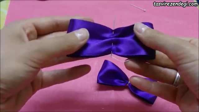 ساخت پاپیون برای تزیین گیره سر