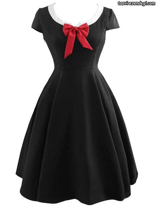 مدل لباس مجلسی مشکی دخترانه