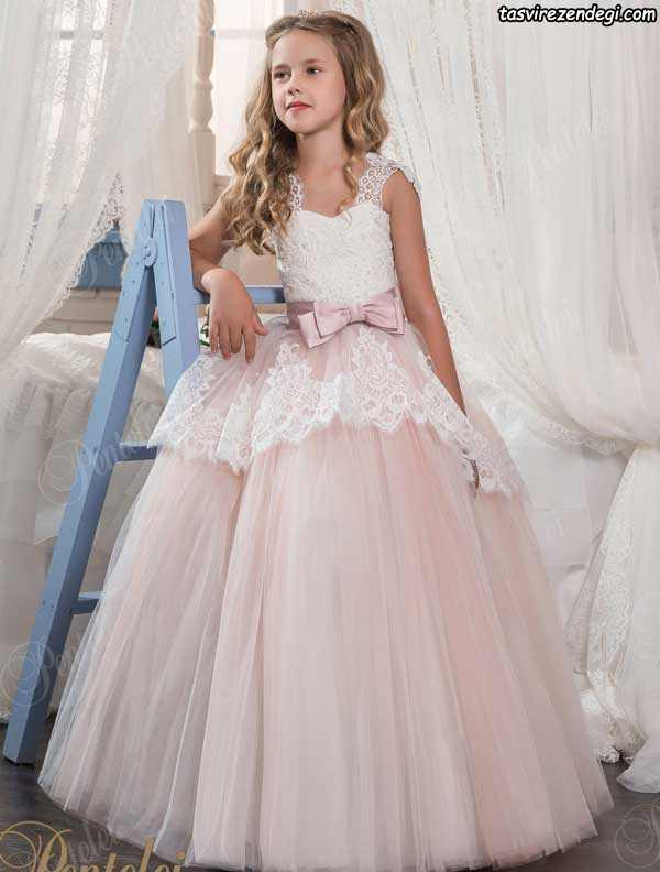 مدل لباس عروس بچه گانه شیک