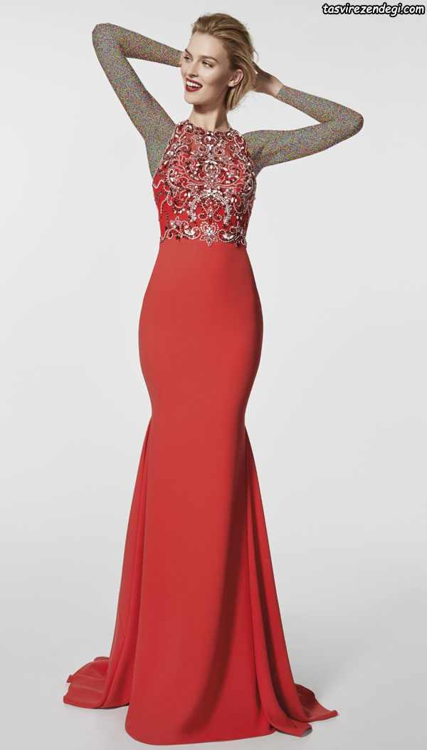 مدل لباس شب بلند شیک