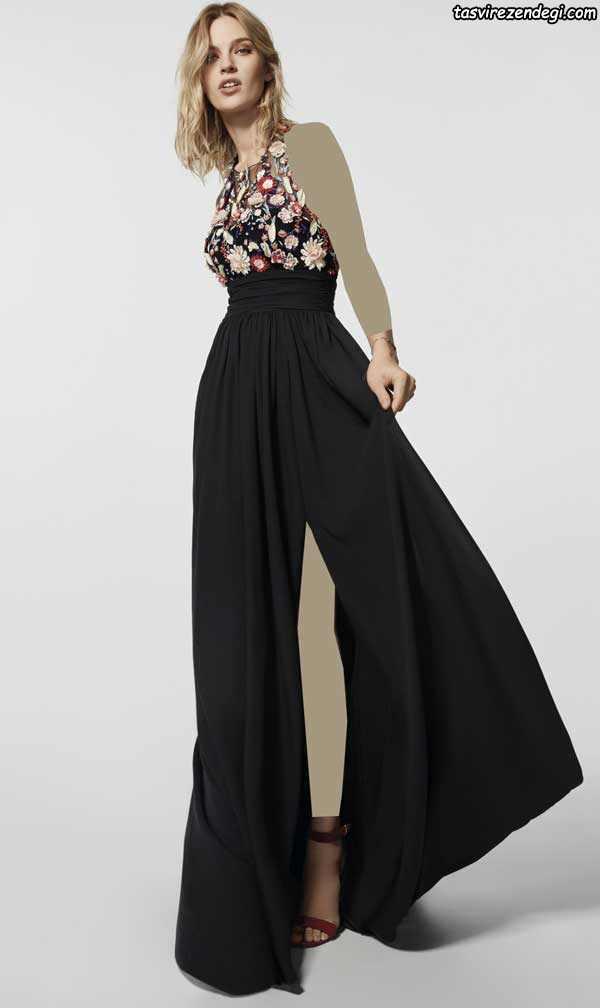 مدل لباس مجلسی مشکی بلند