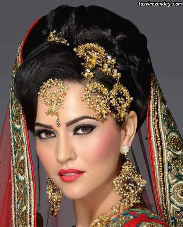 شینیون موی هندی, آرایش عروس هندی