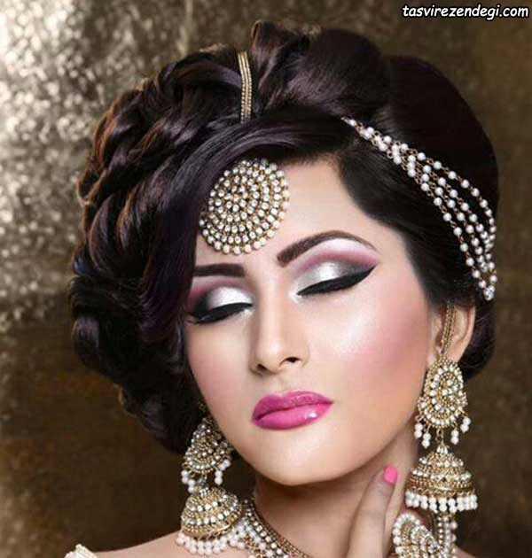 مدل موی هندی ,آرایش صورت عروس