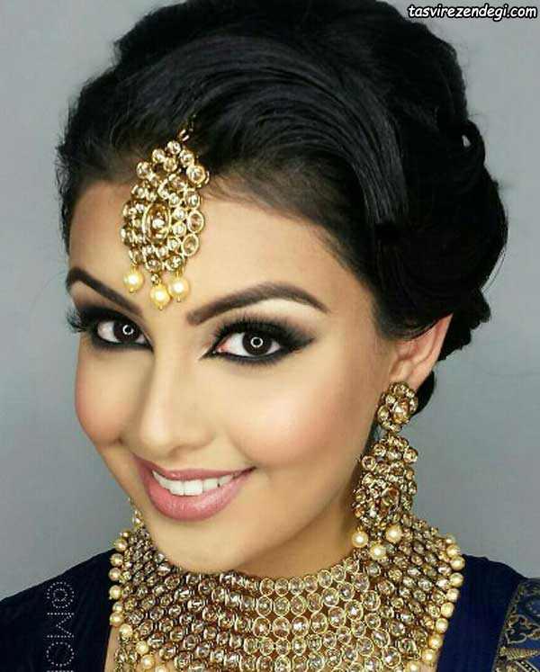 مدل آرایش هندی عروس
