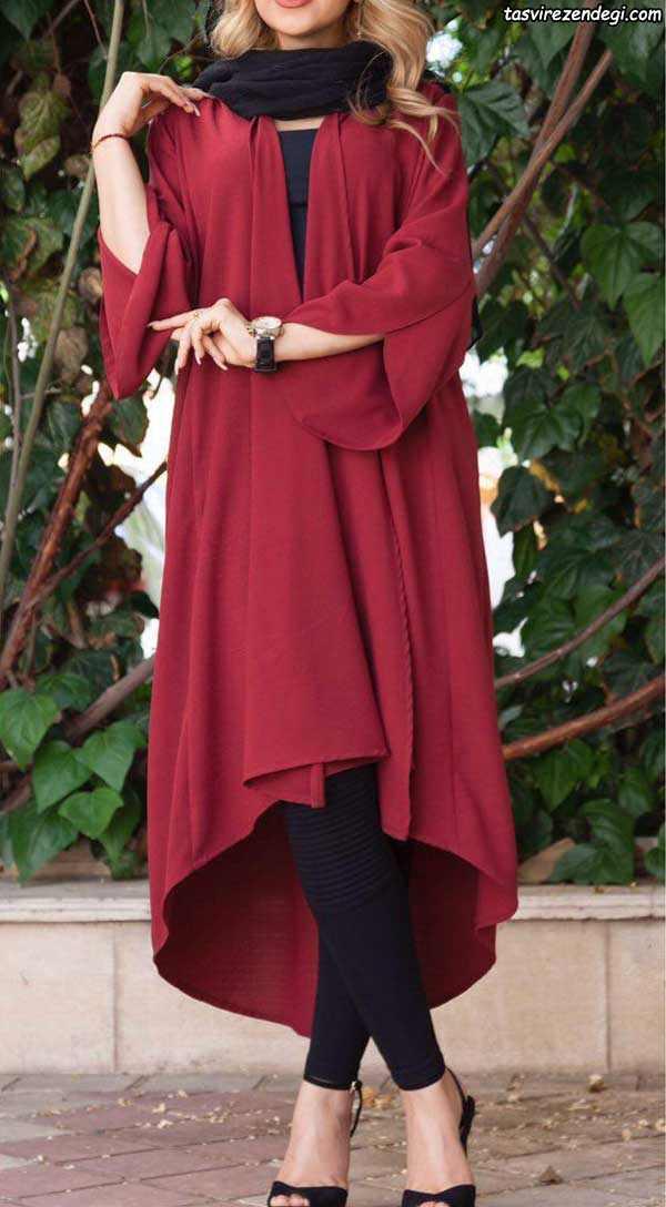 مدل مانتو تابستانی دخترانه قرمز شیک