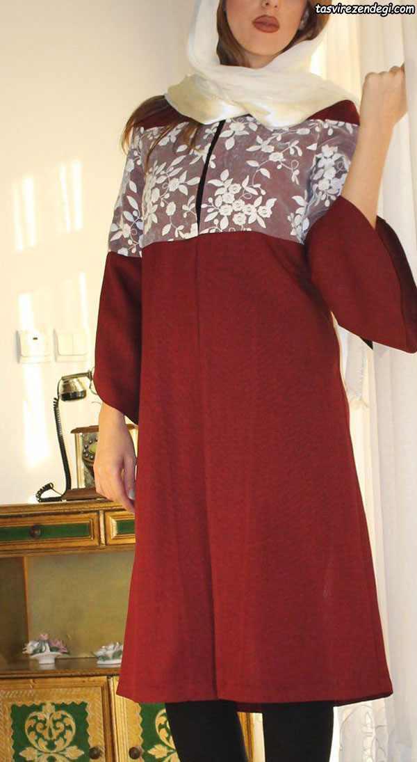 مدل مانتو تابستانه دخترانه قرمز