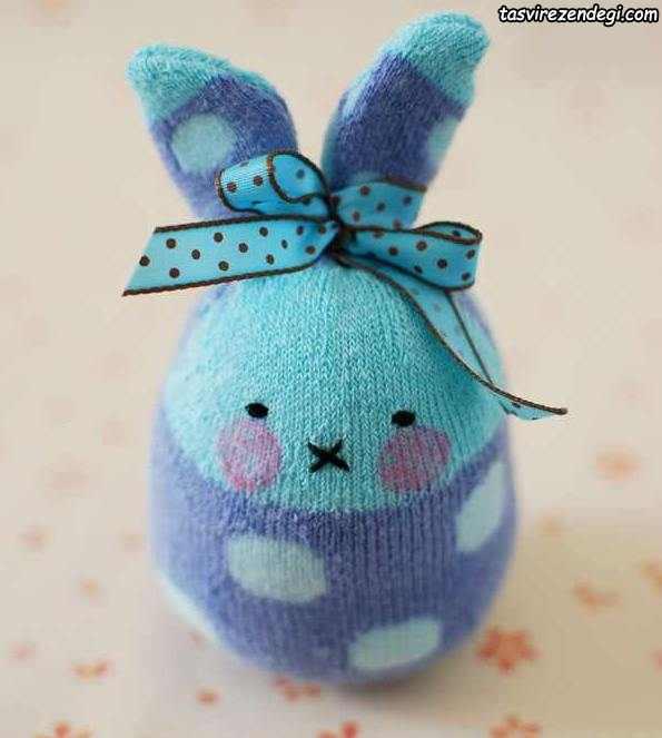 آموزش ساخت عروسک خرگوش جورابی