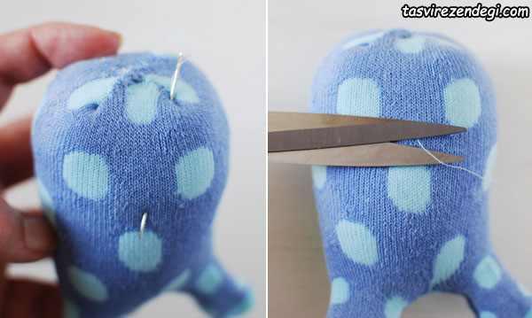 ساخت عروسک خرگوش با جوراب