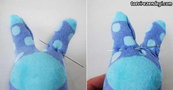 آموزش ساخت عروسک با جوراب