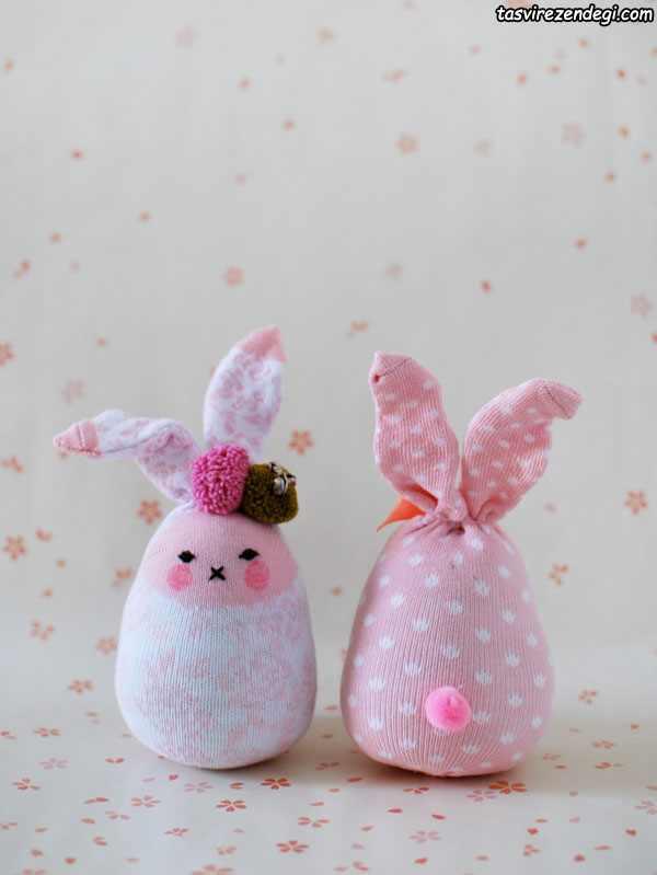 آموزش دوخت عروسک خرگوش جورابی