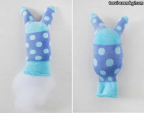 آموزش دوخت عروسک خرگوش ,آموزش عروسک سازی با جوراب